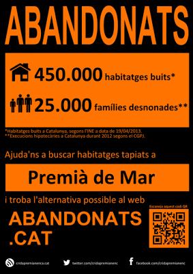 Crida Premianenca posa en marxa la campanya d'habitatge 'ABANDONATS'