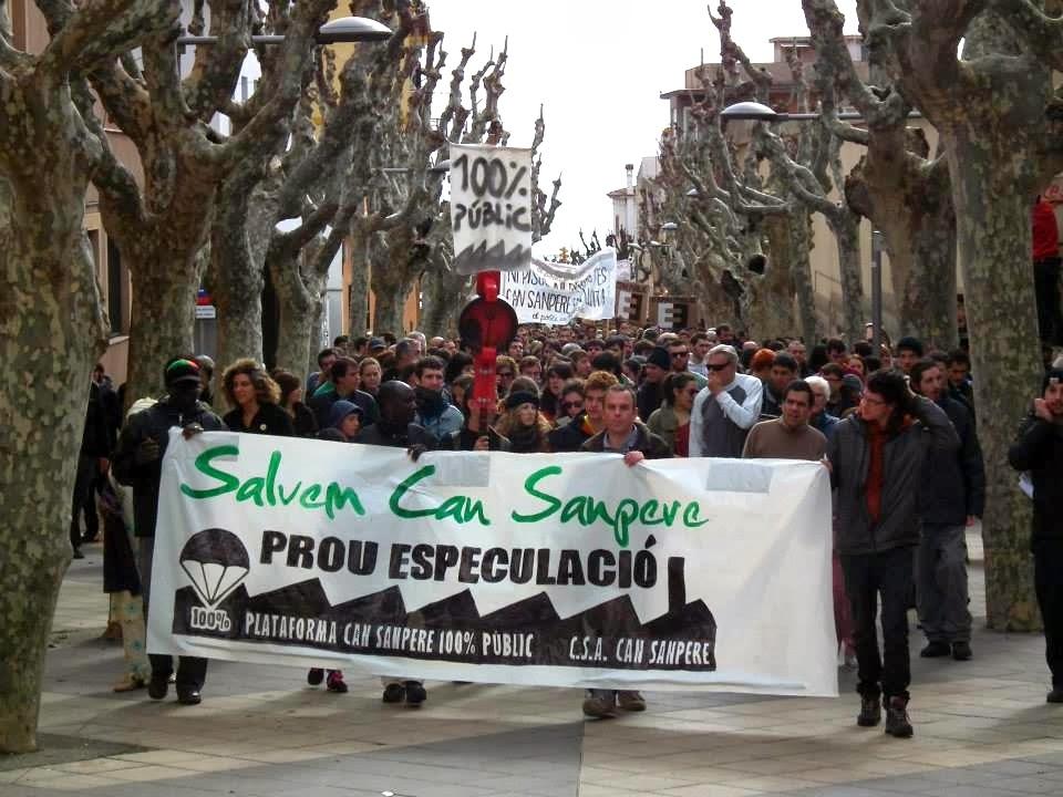 Crida Premianena considera que la manifestació per salvar Can Sanpere i en contra de l'especulació representa un punt d'inflexió en el model urbanístic de Premià de Mar