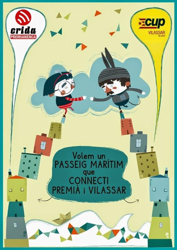 Crida Premianenca i la CUP de Vilassar de Mar inicien una campanya per a la recuperació del passeig marítim entre Premià i Vilassar