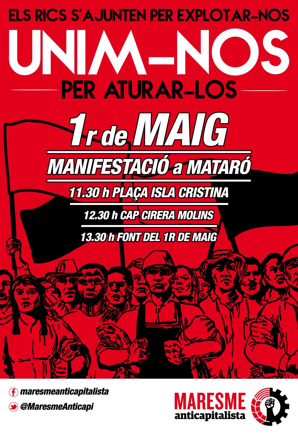 Crida Premianenca amb el Primer de Maig. Dia internacional de la classe treballadora