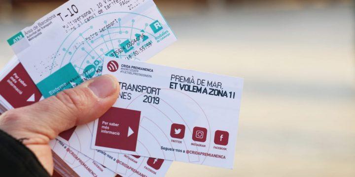Per un transport públic, assequible i de qualitat: Premià de Mar a la Zona 1
