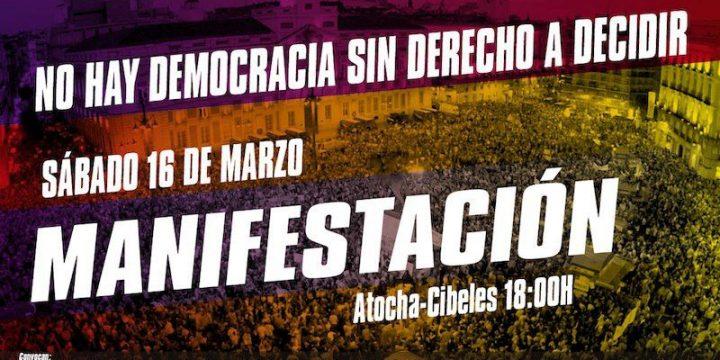 Crida Premianenca viatja a Madrid. L'autodeterminacio és un dret!