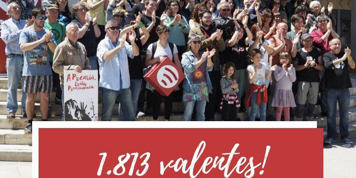 Gràcies 1.813 valentes!