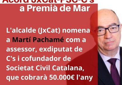 El govern contracta un exdiputat de Ciudadanos com a assessor per 50.000€ l'any